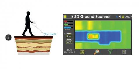 تصوير طبقات الارض ثلاثي الابعاد 3D لكشف الدفائن وا